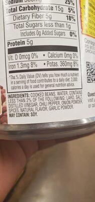 Refried Beans Traditional - Ingredients - en
