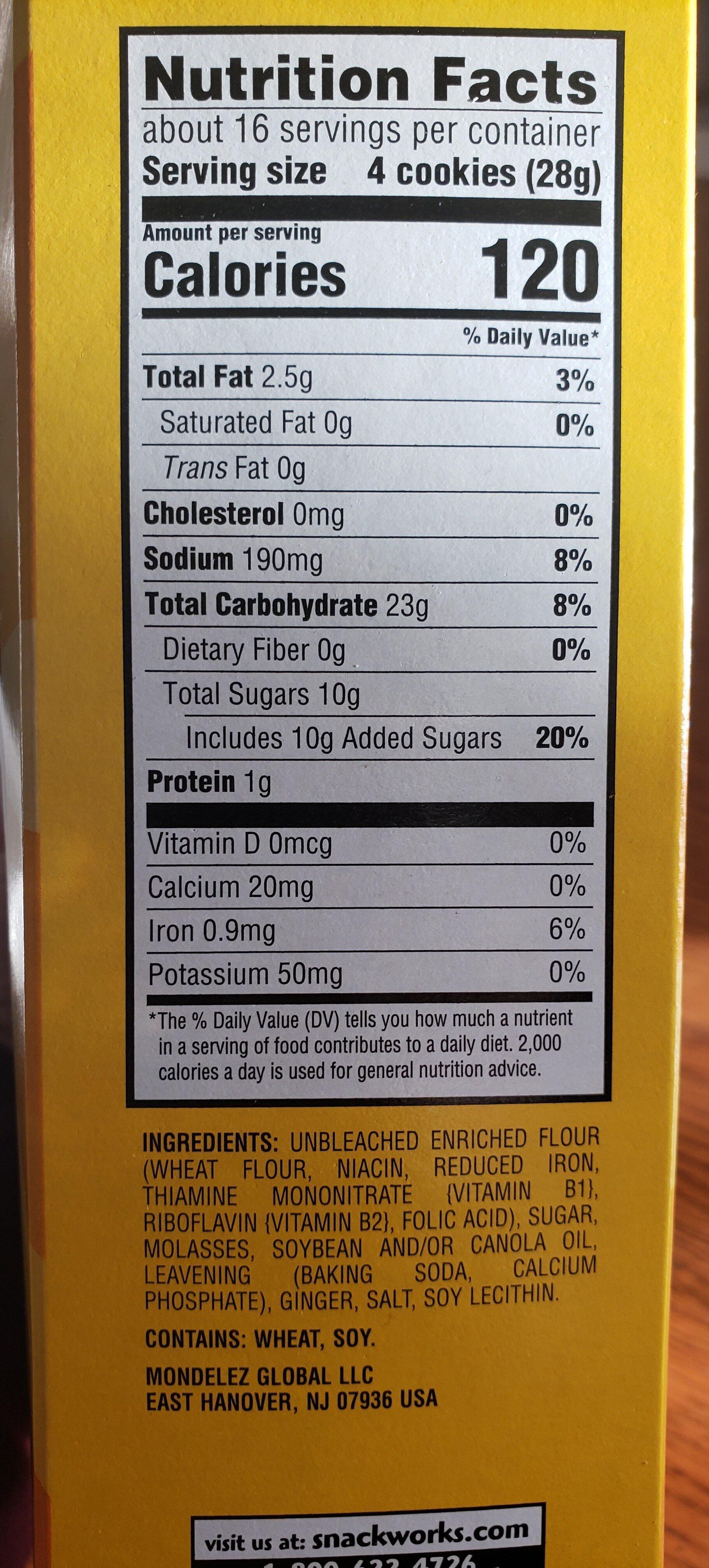 ginger snaps - Ingrediënten - en
