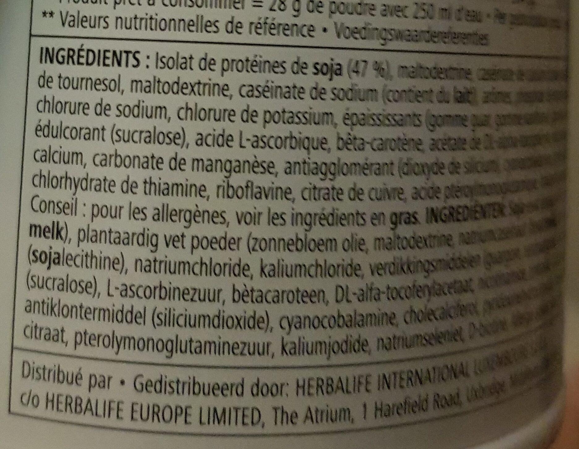 Protein drink mix - Ingredients - en