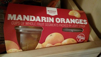Mandarin oranges cups of whole fruit segments packed in light syrup - Product - en