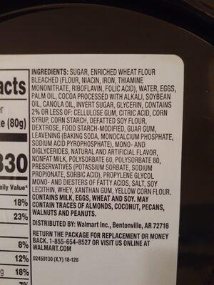 Walmart's chocolate fudge cake - Ingredients - en