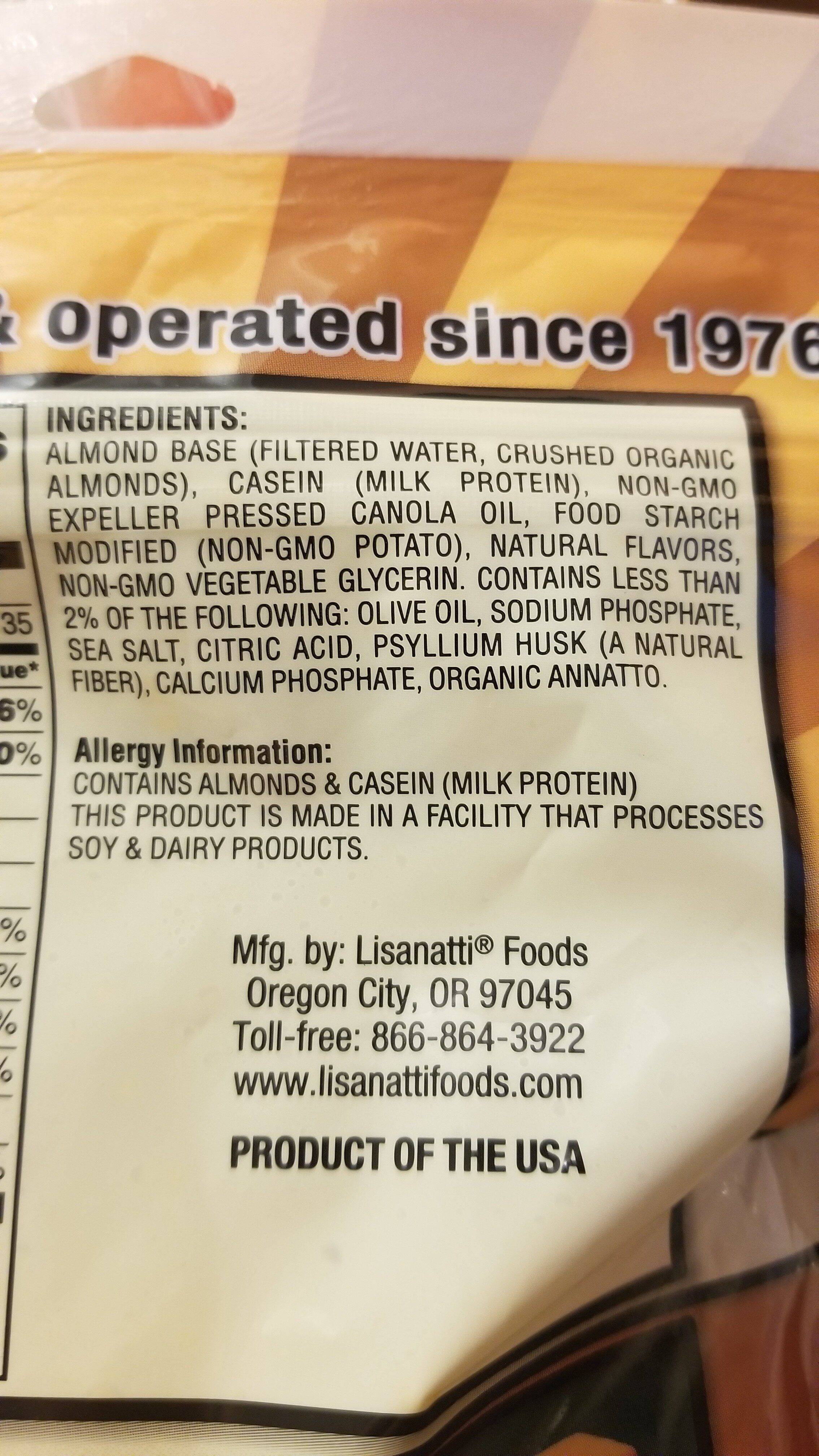 Almonds Cheddar Style - Ingrediënten - en