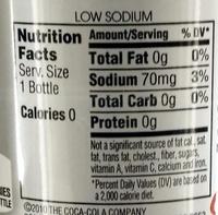 Diet Coke - Informations nutritionnelles
