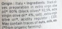 Crème D'Olives Noires Bio Kazidomi - Ingredienti - fr