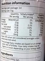 Coles Smart Buy Tomato Paste - Ingredients - en