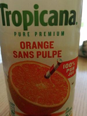 tropicana orange sans pulpe - Product