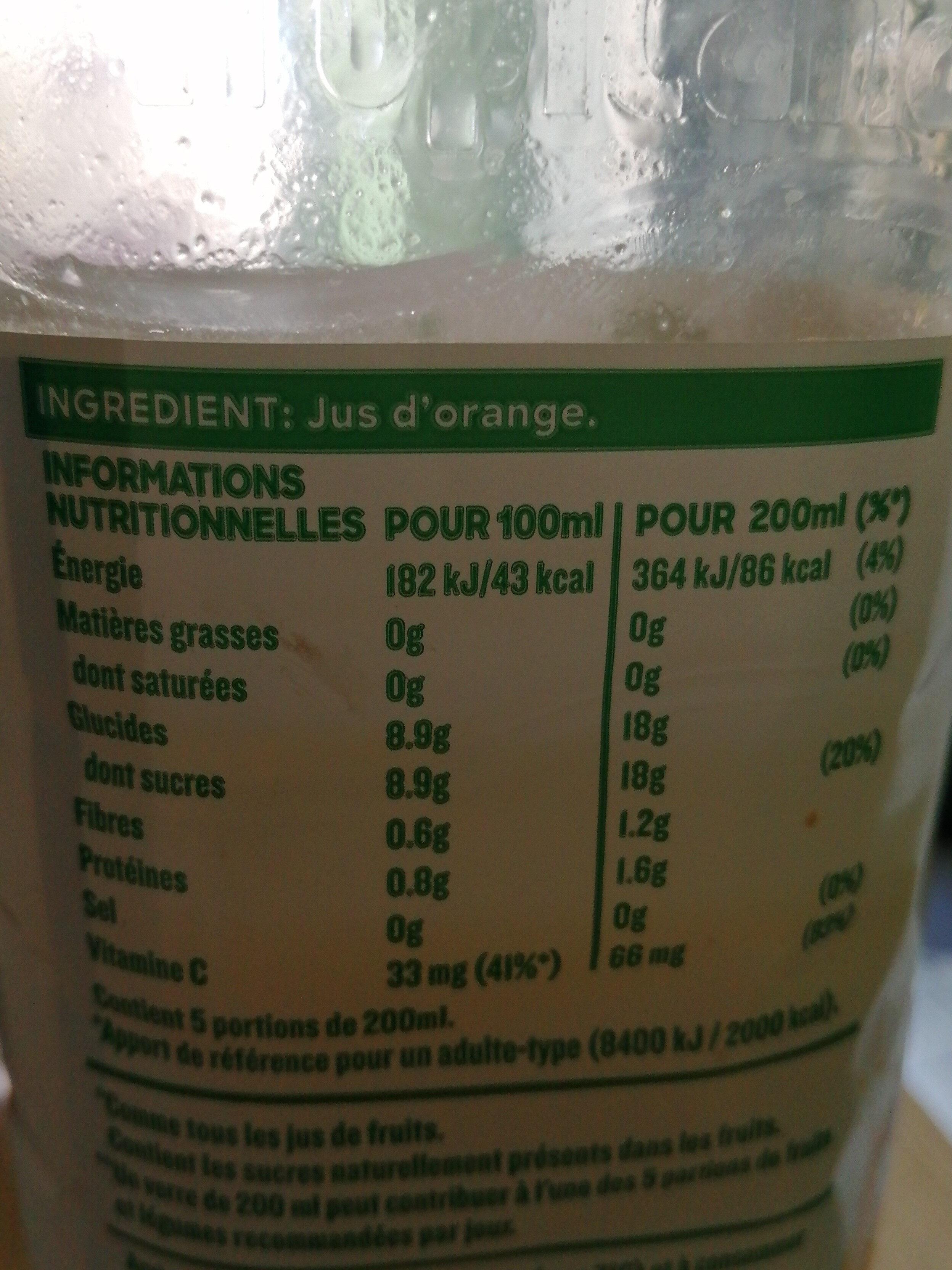 tropicana orange sans pulpe - Ingredients