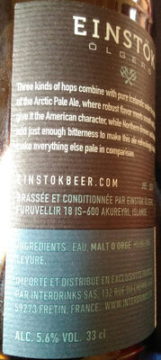 Einstok Iceland pale ale - Product - fr