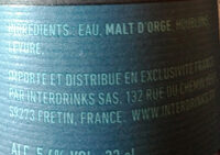 Einstok Iceland pale ale - Ingredients - fr