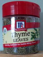 Thyme leaves - Product - en
