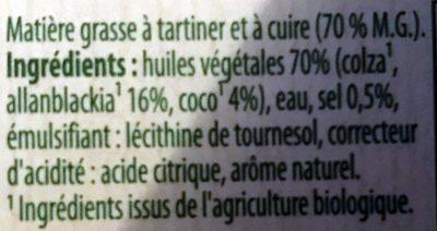 Bio Doux Sans Huile de Palme - Ingredients - fr
