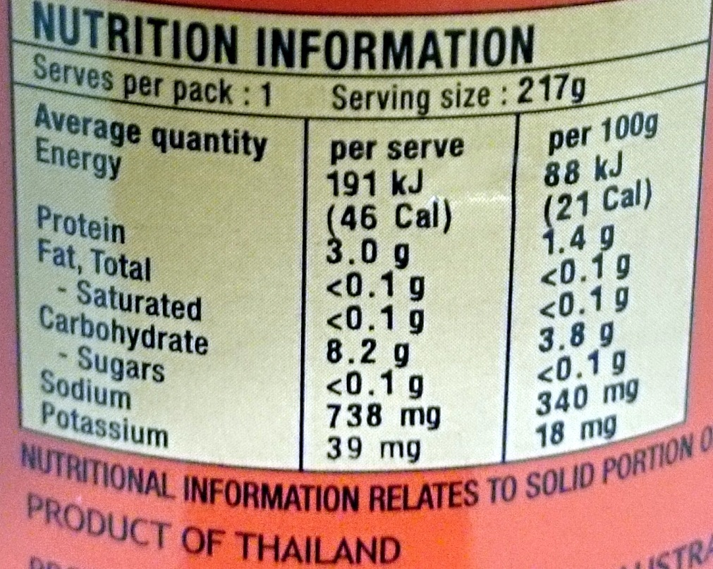 Trident Wok Ready Mixed Vegetables - Nutrition facts