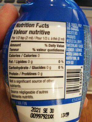 Nesfruta - Nutrition facts - fr