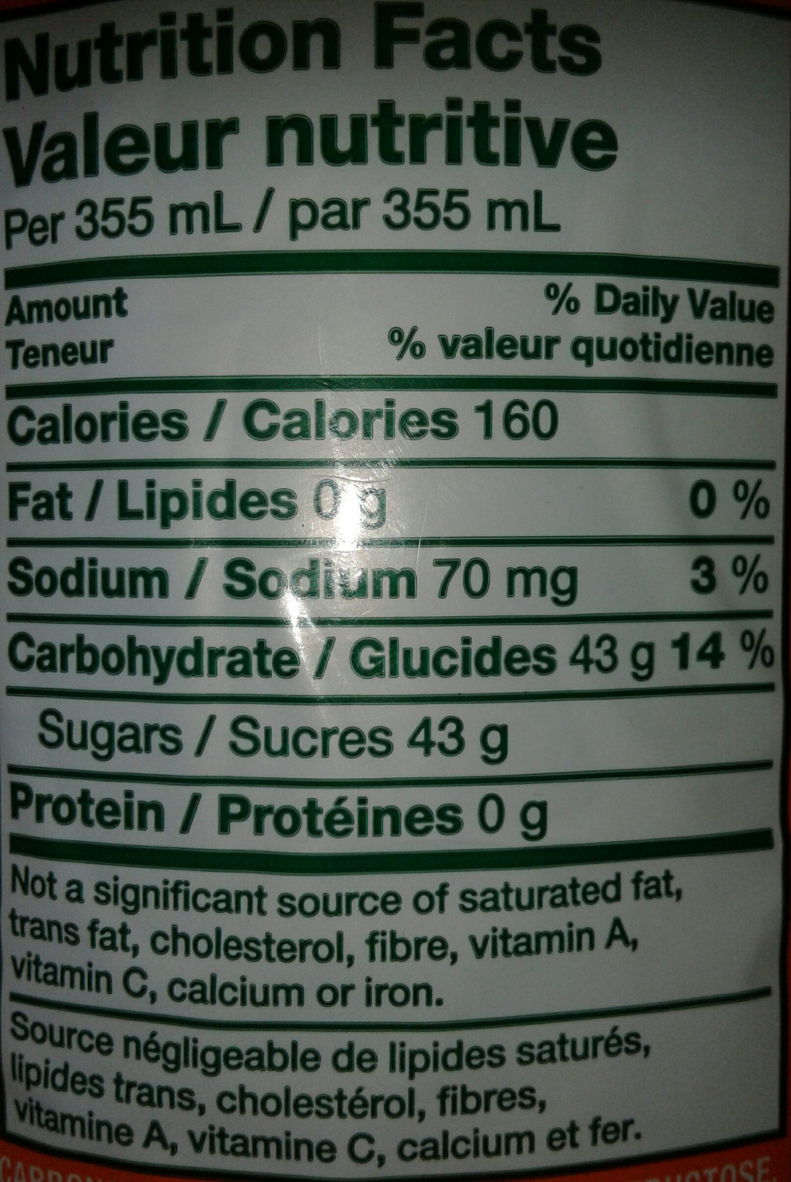 - Nutrition facts - ar