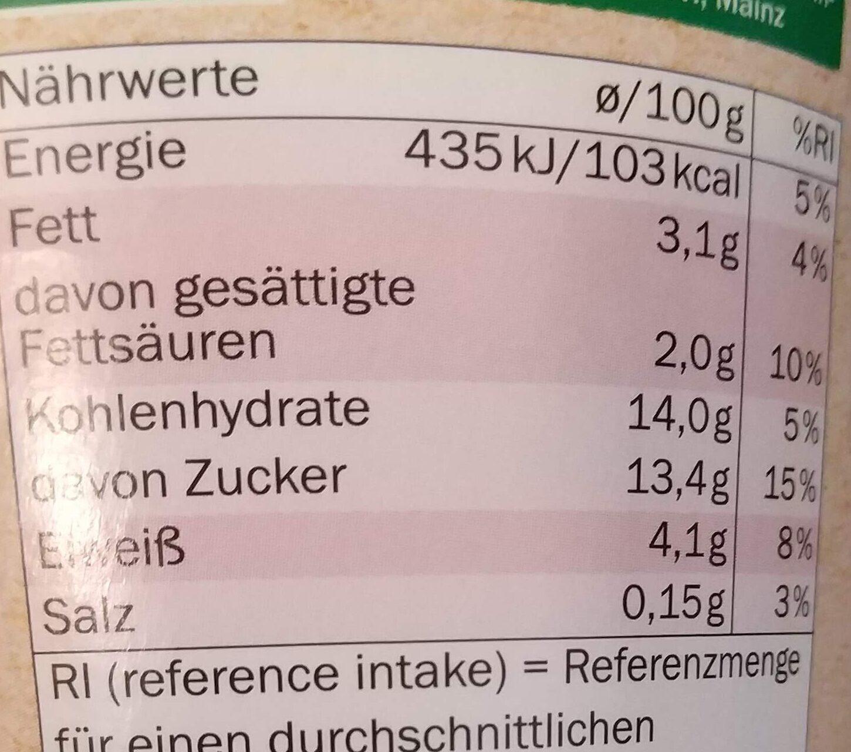 Bio-Fruchtjoghurt mild Himbeere-Holunderbeere - Nutrition facts