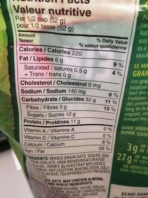 Protéine granola - Informations nutritionnelles - fr