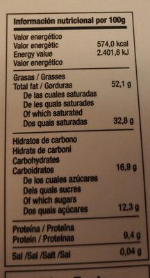 cacao sampaka de Venezuela - Informations nutritionnelles - es