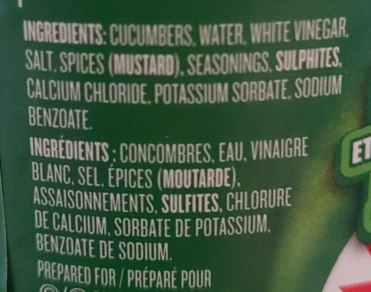 Mini Crunch'ems - Ingredienti - fr