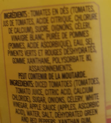 ketchup maison - Ingrédients - fr