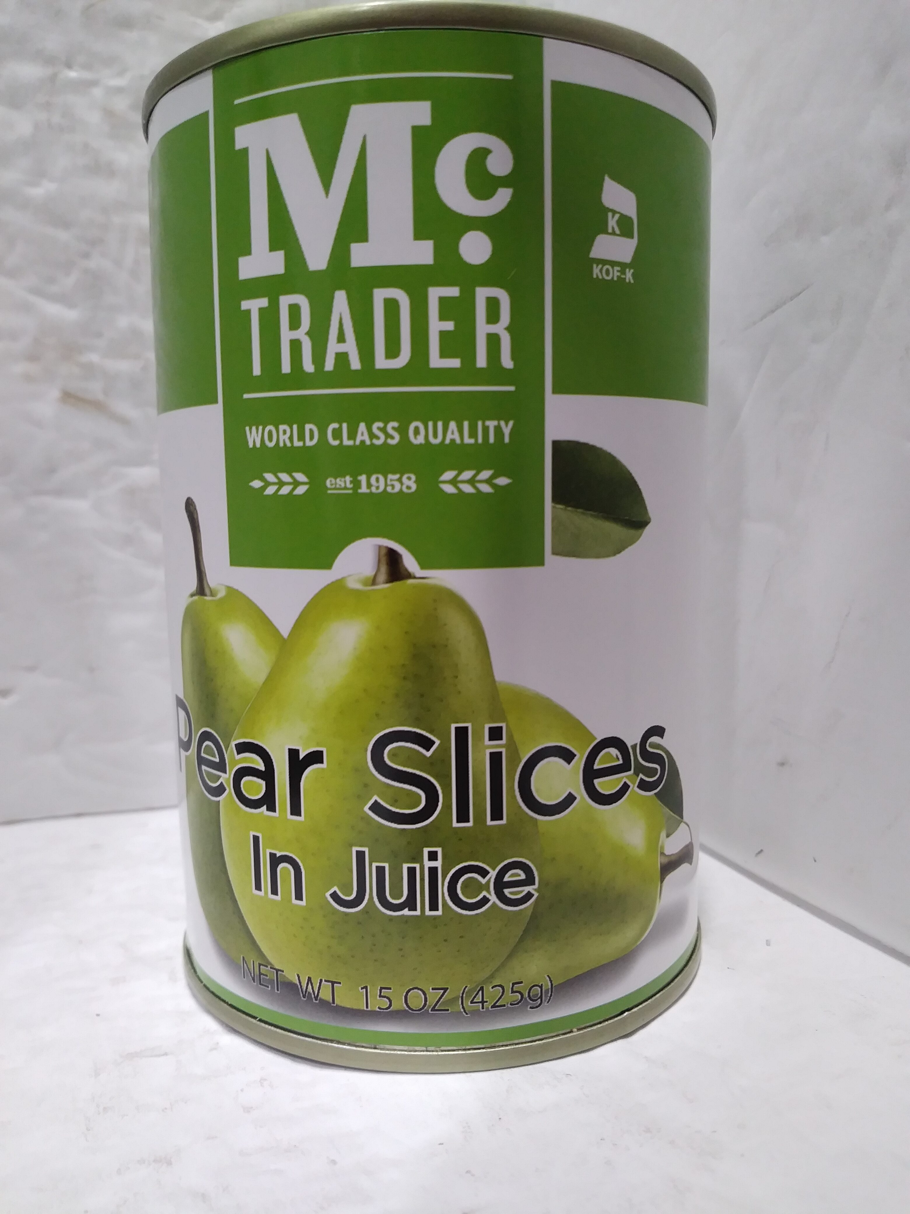 Pear slices in juice - Product - en