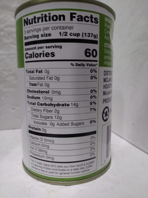 Pear slices in juice - Nutrition facts - en