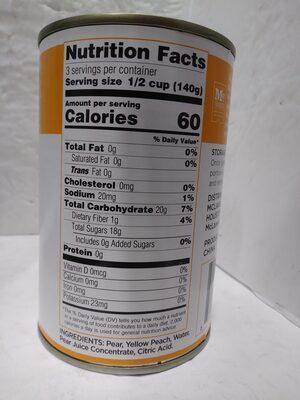 Fruit Mix in Juice - Ingredients - en