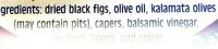 Fig & Olice spread, sauce & dip - Ingredients - en