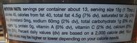 Fig & Olice spread, sauce & dip - Nutrition facts - en