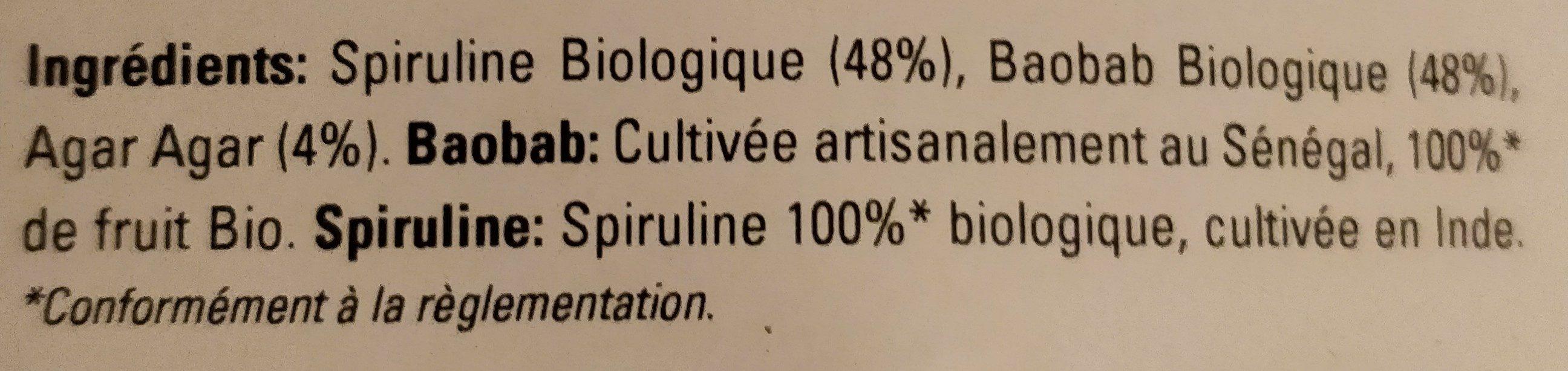 Comprimés Spiruline et Baobab - Ingredients - fr