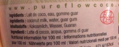 Pure flow coco - Ingrediënten