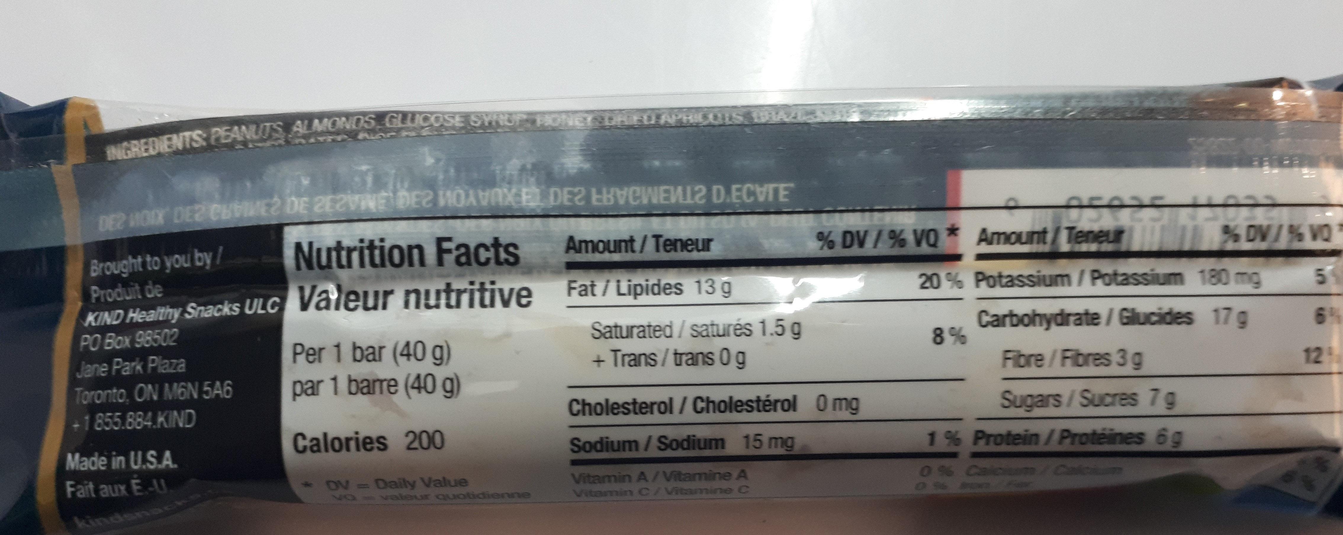 FRUIT & NOIX - Nutrition facts