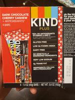 Plus Bar, Dark Chocolate Cherry Cashew Plus Antioxidants - Product