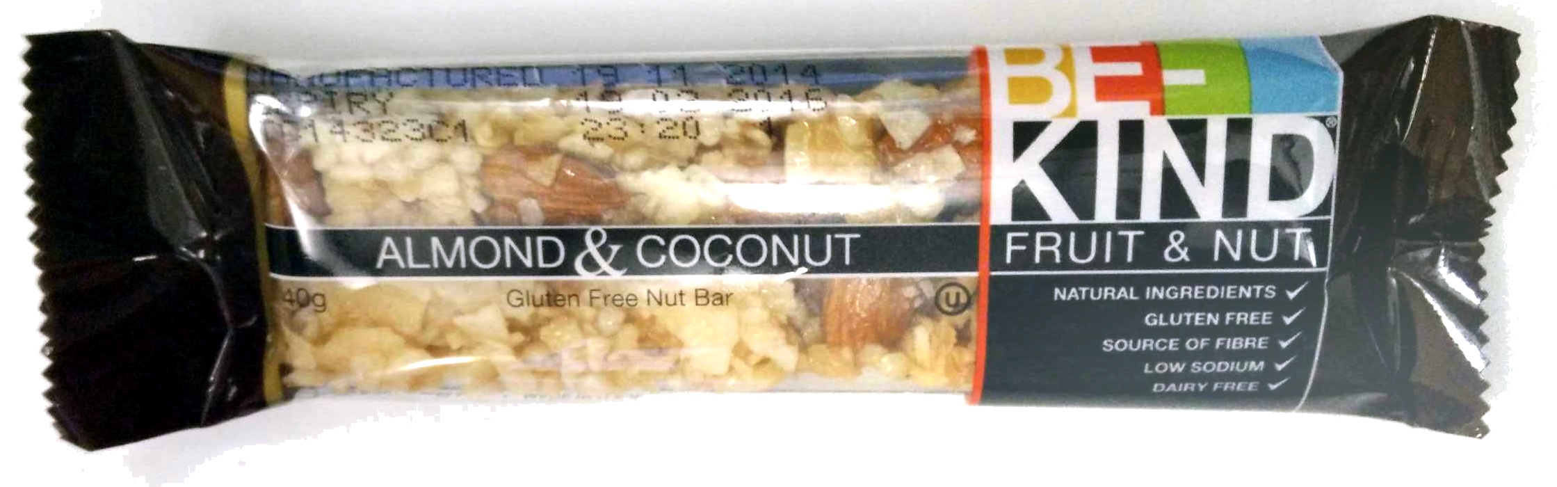 Almond & Coconut gluten Free Nut Bar - Product