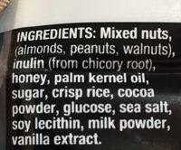 Barre Chocolat Noir, Noix & Sel de Mer - Ingredients