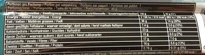 Barre Chocolat Noir, Noix & Sel de Mer - Informations nutritionnelles - fr
