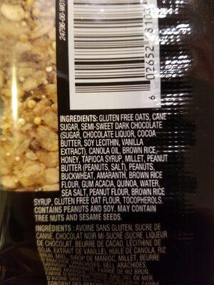Heathy grains granola bar - Ingrédients - en