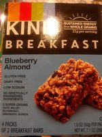 Breakfast Bars, Blueberry Almond - Produit