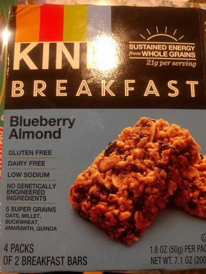 Breakfast Bars, Blueberry Almond - Product
