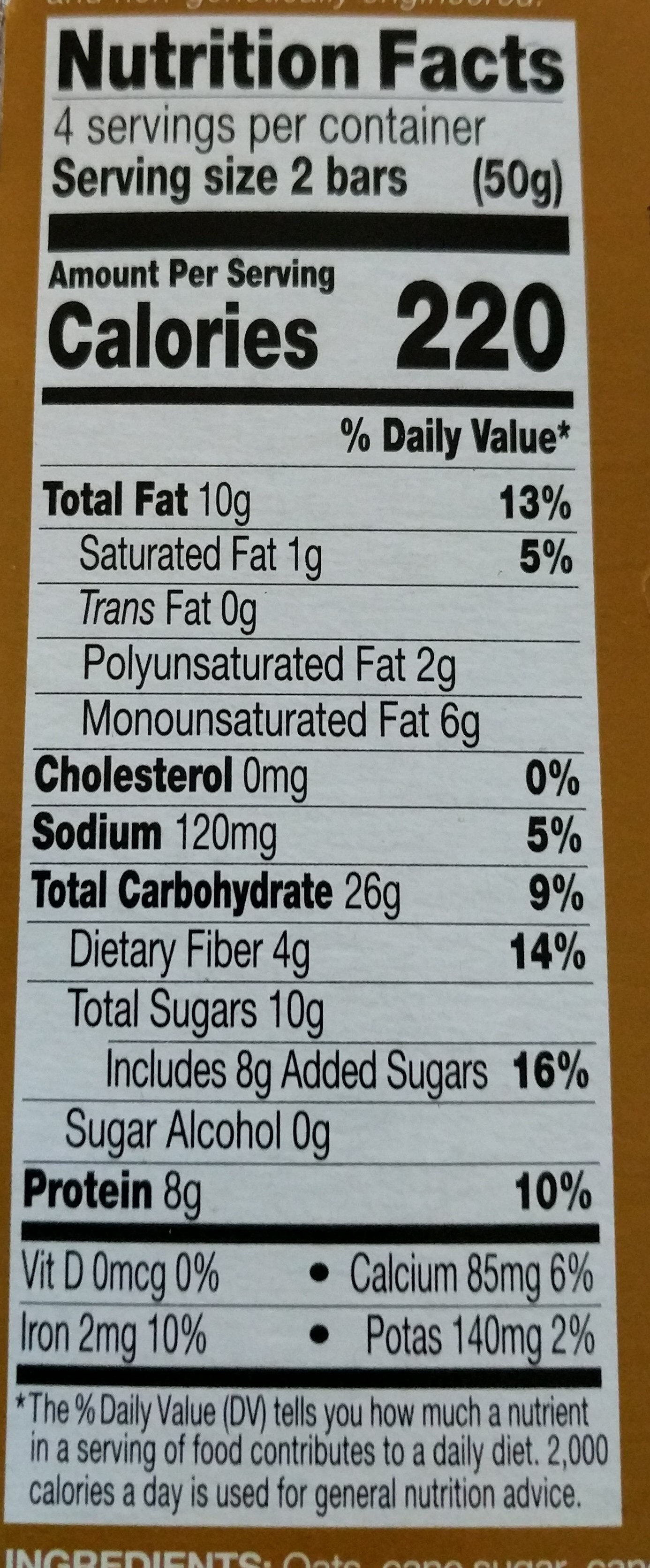 Kind Breakfast Protein Almond Butter - Nutrition facts