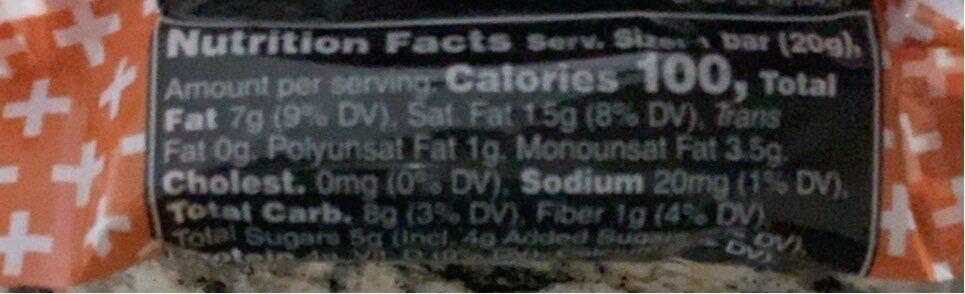 Peanut Butter Dark Chocolate Bar - Informations nutritionnelles - en