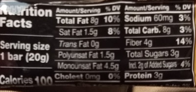 Caramel almond sea salt - Nutrition facts - en