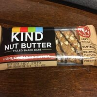 Honey almond butter nut butter filled snack bars, honey almond butter - Product - en