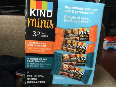 Kind minis peanut butter and dark chocolate - Product - en