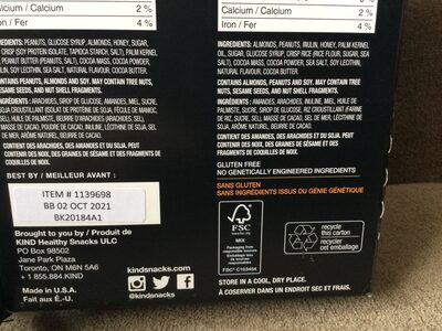 Kind minis peanut butter and dark chocolate - Recycling instructions and/or packaging information - en
