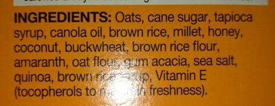 kind oats & honey - Ingredients - en