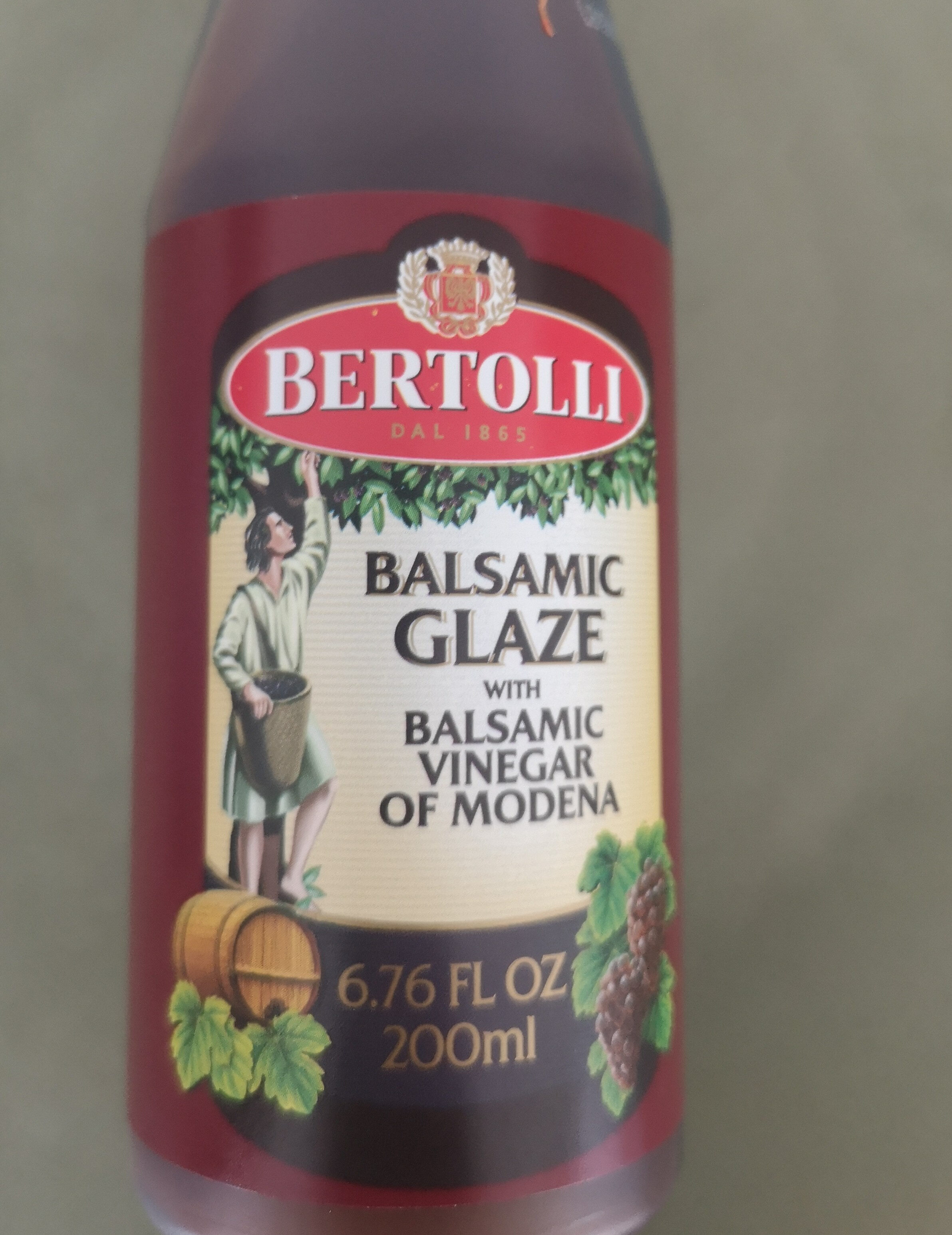 Balsamic Glaze With Balsamic Vinegar Of Modena Bertolli 200ml