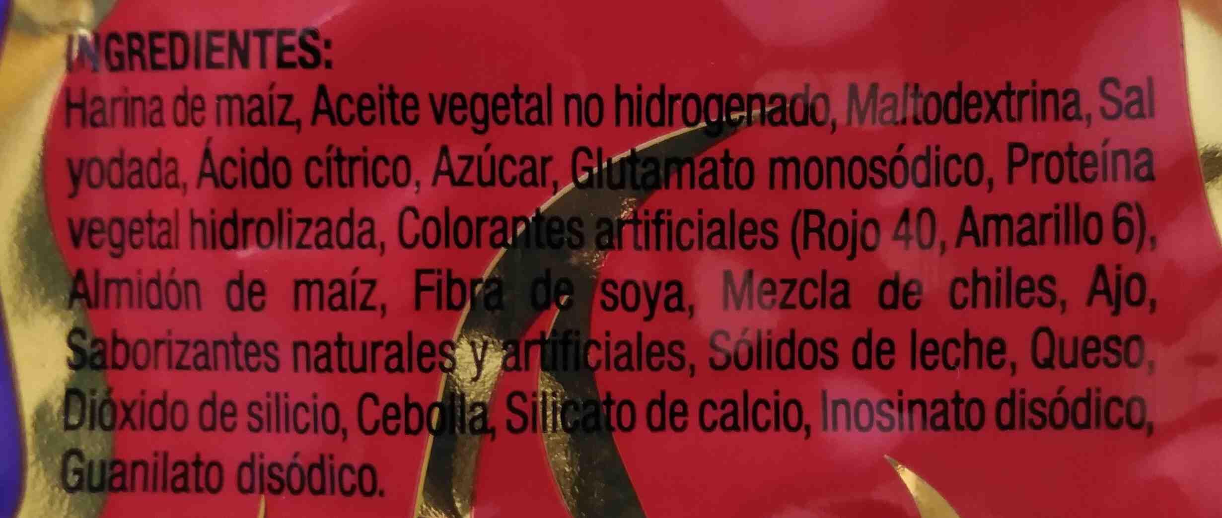 Tostaditas Piccas - Ingredientes