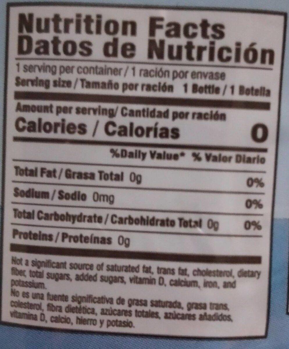 Purified Drinking Water - Informació nutricional - es