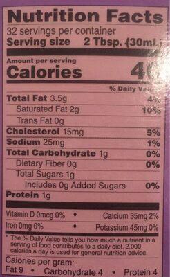 Half & Half - Nutrition facts