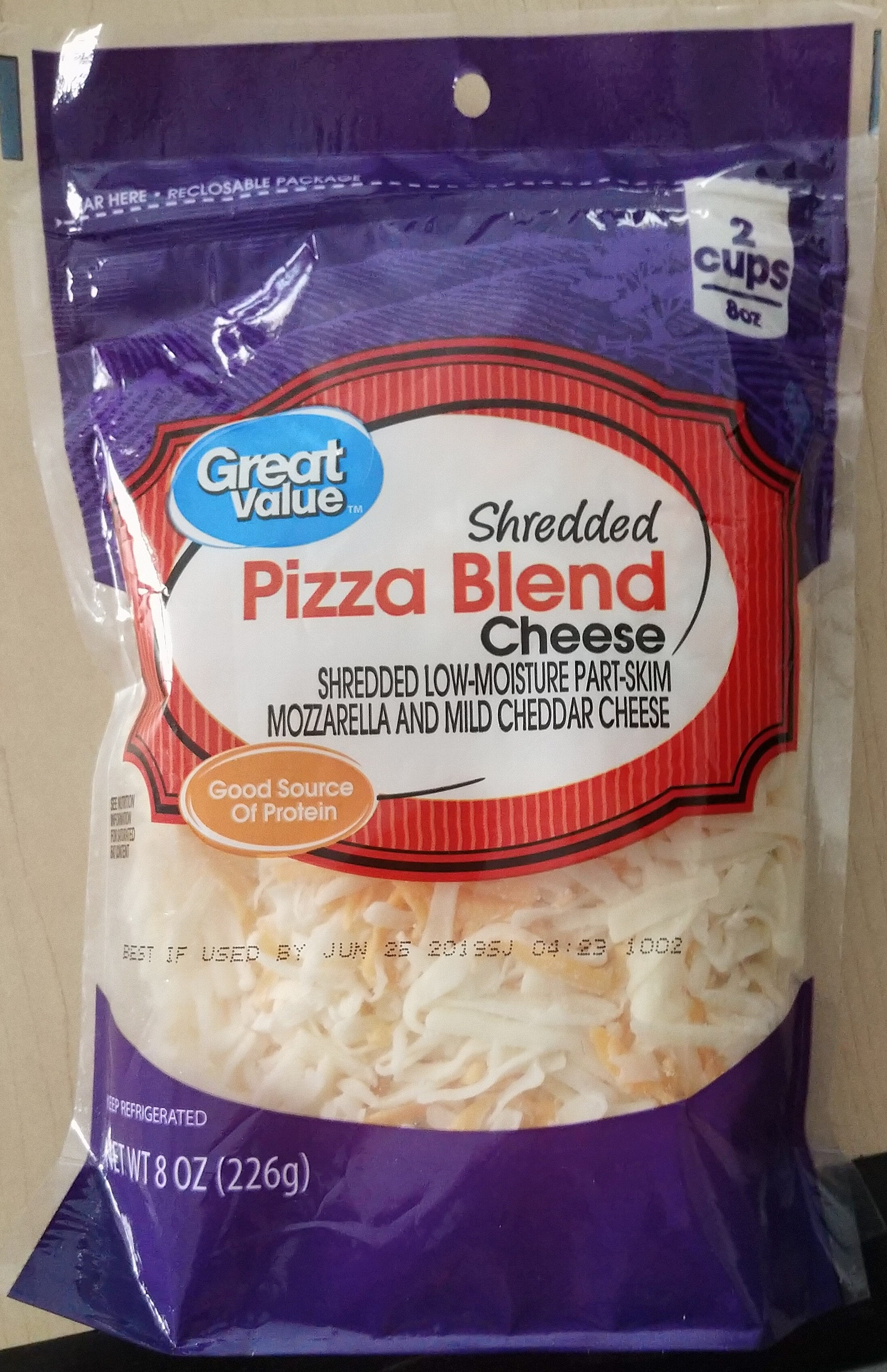 Great value, shredded pizza blend cheese - Product - en